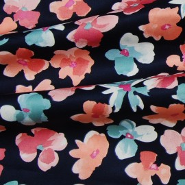 FLORAL PRINTED COTTON SATIN (SOLD AS A 2.8 METERS PIECE)