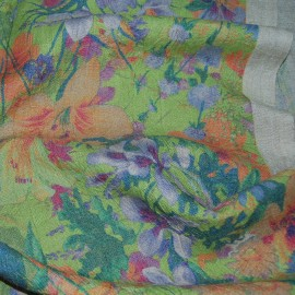 FLORAL PRINTED LINEN