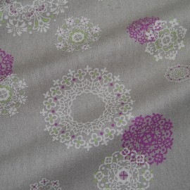 PRINTED LINEN COTTON MIX FABRIC