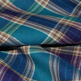 CHECKERED  COTTON FABRIC WITH LUREX THREAD
