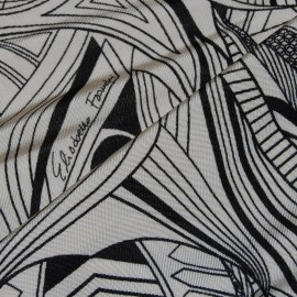 PRINTED COLD VISCOSE JERSEY FABRIC ELISABETTE FRANCHI