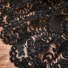 BLACK HEAVY CORDED LACE