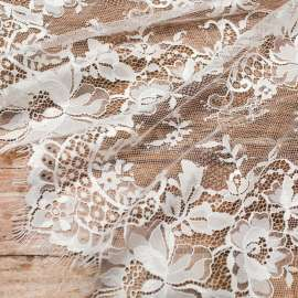 DOUBLE SCALLOPED LACE IVORY