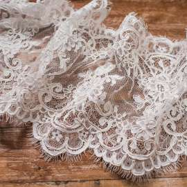 CORDED TRIM LACE LIGHT IVORY