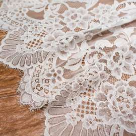 DOUBLE SCALLOPED DELICATE COTTON MIX LACE