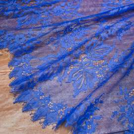DELICATE ONE SIDE SCALLOPED LACE ROYAL BLUE