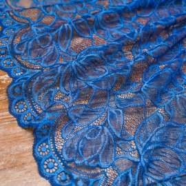 DOUBLE SCALLOPED LACE ROYAL BLUE