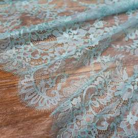 DOUBLE SCALLOPED LACE LIGHT BLUE