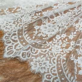 DOUBLE SCALLOPED LACE LIGHT IVORY