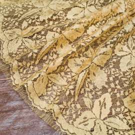 FRENCH COTTON MIX LACE YELLOW