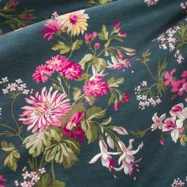 FLORAL PRINTED DENSE COTTON FABRIC