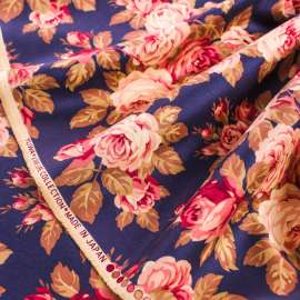 FLORAL PRINTED DENSE COTTON FABRIC YUWA LIVE LIFE COLLECTION