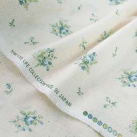 FLORAL PRINTED COTTON FABRIC YUWA LIVE LIFE COLLECTION