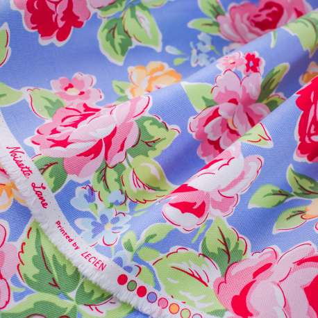 FLORAL PRINTED DENSE COTTON FABRIC LECIEN COLLECTION