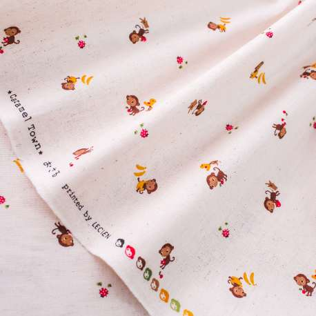 PRINTED COTTON LINEN MIX FABRIC LECIEN COLLECTION