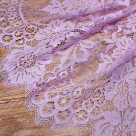 COTTON MIX LACE TRIM LAVENDER