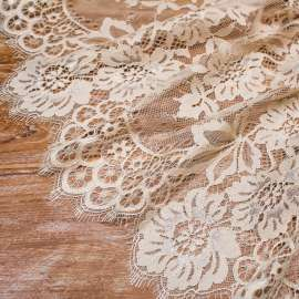 COTTON MIX LACE TRIM DARK CHAMPAGNE