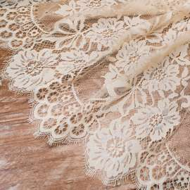 COTTON MIX LACE TRIM LIGHT CHAMPAGNE