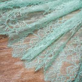 DELICATE TRIM LACE MEDIUM AQUA GREEN