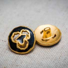 ENAMEL BUTTON (SOLD AS A 6 PIECES PACK)
