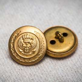 BRASS BUTTON (SOLD AS A 6 PIECES PACK)