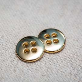 4-HOLES METAL BUTTON (SOLD AS A 6 PIECES PACK)