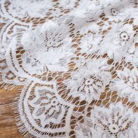 WHITE CORDED LACE
