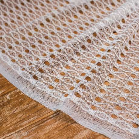 TULLE LACE WHITE