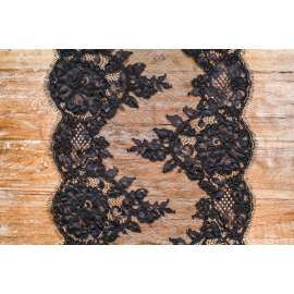 BLACK CORDED LACE TRIM
