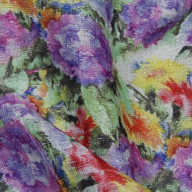 FLORAL PRINTED METALLIC COTTON VISCOSE MIX