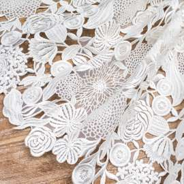 EMBROIDERED ORGANZA