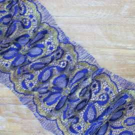 FRENCH TRIMMING LACE BLUE