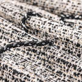 TWEED CREAM & BLACK WITH GOLDEN THREAD