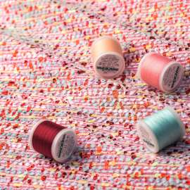 FOILED BOUCLÉ FABRIC