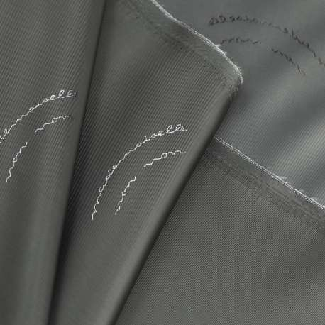 OLIVE DOUBLE SIDE VISCOSE JACQUARD LINING