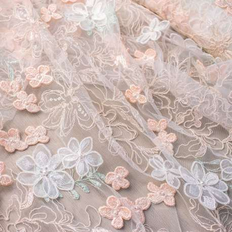 EMBROIDERED TULLE