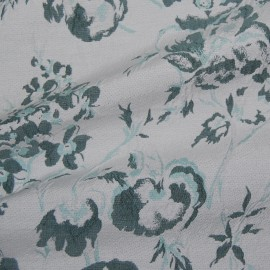 FLORAL COTTON MIX DOUBLE SIDE JACQUARD