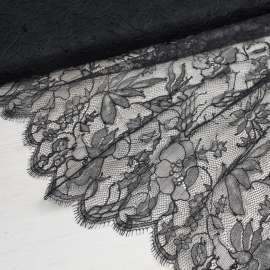 FINE FRENCH CHANTILLY LACE BLACK