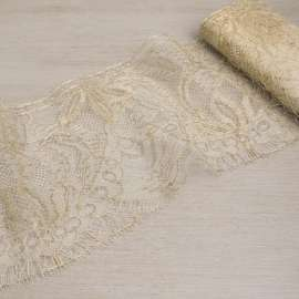 FRENCH METALLIC GOLD TRIMMING LACE