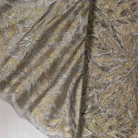 LUXURY FRENCH METALLIC LACE