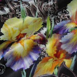 FLORAL PRINTED  SILK COTTON MIX TWILL